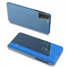 Clear View Case atverčiamas dėklas Samsung Galaxy S21 Ultra 5G mėlynas