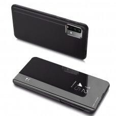 Atverčiams dėklas Clear View Case Cover skirta Xiaomi Poco M3 Juodas