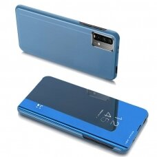 Atverčiams dėklas Clear View Case Cover skirta Xiaomi Poco M3 Mėlynas