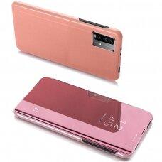 Atverčiams dėklas Clear View Case Cover skirta Xiaomi Poco M3 Rožinis