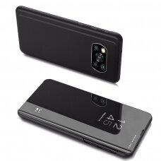 Atverčiamas dėklas Clear View Case Cover For Xiaomi Poco X3 Nfc Juodas