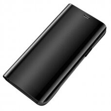 Atverčiamas dėklas veidrodiniu-permatomu dangteliu 'Clear View'  Xiaomi Redmi 9 juoda UCS113