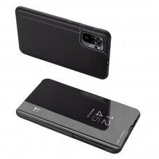 Atverčiamas dėklas Clear View Case cover for Xiaomi Redmi Note 10 Pro Juodas