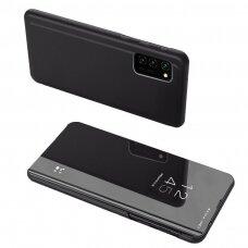 Atverčiamas dėklas Clear View Case Xiaomi Redmi Note 10 / Redmi Note 10S Juodas