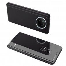 Atverčiamas dėklas Clear View Case  Xiaomi Redmi Note 9T 5G Juodas