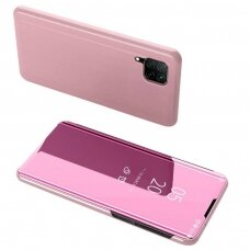 Clear view dėklas Huawei P40 Lite / Nova 7i / Nova 6 SE rožinis (ctz012) UCS068