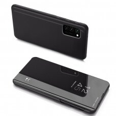 Clear View Dėklas Samsung Galaxy A41 Juodas