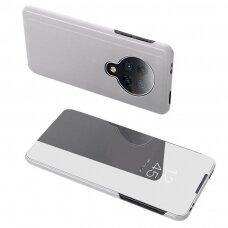 Clear View Dėklas Xiaomi Mi K30 Pro / Poco F2 Pro Sidabrinis