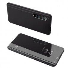Clear View Dėklas Xiaomi Mi Note 10 Lite Juodas