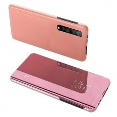 Clear View Dėklas Xiaomi Mi Note 10 Lite Rožinis