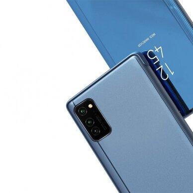 Atverčiamas dėklas Clear View Case cover Samsung Galaxy A32 5G Juodas 2