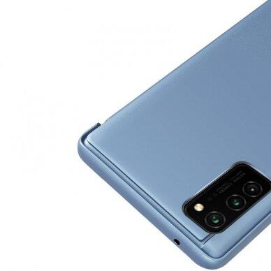 Atverčiamas dėklas Clear View Case cover Samsung Galaxy A32 5G Juodas 3