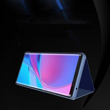 Atverčiamas dėklas Clear View Case cover Samsung Galaxy A32 5G Juodas 4