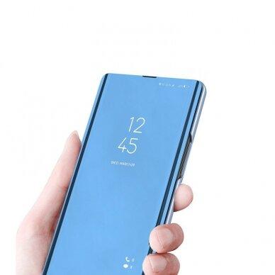 Atverčiamas dėklas Clear View Case cover Samsung Galaxy A32 5G Juodas 6