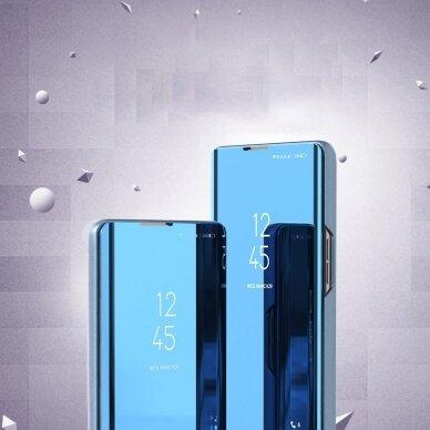 Atverčiamas dėklas Clear View Case cover Samsung Galaxy A32 5G Juodas 7