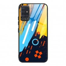 Spalvotas Apsauginis Dėklas Color Glass Samsung Galaxy A51 Pattern 1