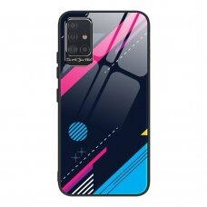 Spalvotas Apsauginis Dėklas Color Glass Samsung Galaxy A51 Pattern 4