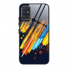 Spalvotas Apsauginis Dėklas Color Glass Samsung Galaxy A51 Pattern 5