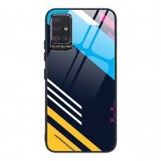 Spalvotas Apsauginis Dėklas Color Glass Samsung Galaxy A71 Pattern 2