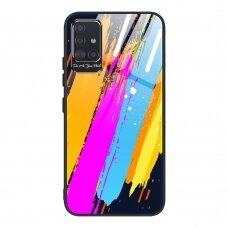 Spalvotas Apsauginis Dėklas Color Glass Samsung Galaxy A71 Pattern 3
