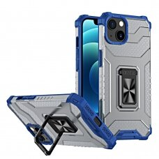 Dėklas Crystal Ring iPhone 13 Mėlynas