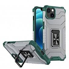 Dėklas Crystal Ring iPhone 13 Žalias