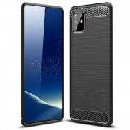 Чехол Carbon Lux Samsung A715 A71 черный