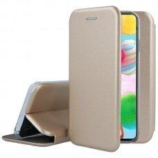 Dėklas Book Elegance Samsung A035 A03s auksinis
