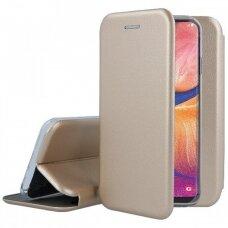 Dėklas Book Elegance Samsung A202 A20e aukso spalvos UCS033