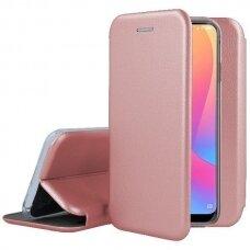 Dėklas Book Elegance Samsung A326 A32 5G rožinis-auksinis