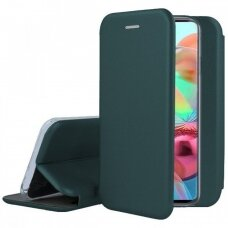 Dėklas Book Elegance Samsung A715 A71 tamsiai žalias UCS024