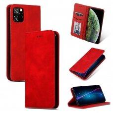Dėklas Business Style Apple iPhone 11 Pro Max raudonas USC056