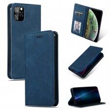 Dėklas Business Style Apple iPhone 11 Pro Max tamsiai mėlynas USC056