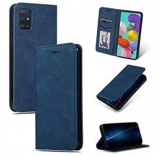 Dėklas Business Style Samsung A715 A71 tamsiai mėlynas UCS024