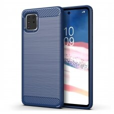 Dėklas Carbon Case Flexible Samsung Galaxy Note 10 Lite mėlynas