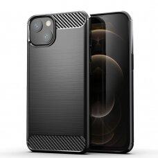 Dėklas Carbon Lux Apple iPhone 13 mini juodas