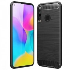 Dėklas Carbon Lux Huawei P40 Lite E juodas UCS067