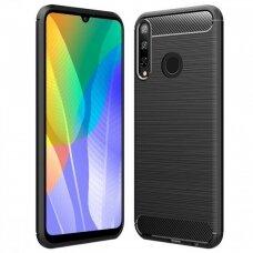 Dėklas Carbon Lux Huawei Y6P juodas UCS094