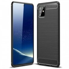 Dėklas Carbon Lux Samsung A715 A71 juodas UCS024