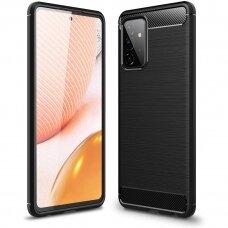 Dėklas Carbon Lux Samsung A72 5G juodas