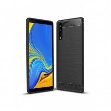 Dėklas Carbon Lux Samsung A750 A7 2018 juodas UCS037