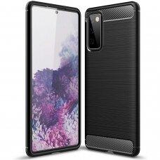 Dėklas Carbon Lux Samsung S20 Fe Juodas
