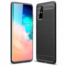 Dėklas Carbon Lux Samsung S21 Plus/S30 Plus Juodas