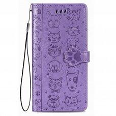 Dėklas Cat-Dog Samsung A035 A03s purpurinis