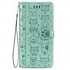 Dėklas Cat-Dog Samsung A52/ A52s žalias