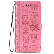 Dėklas Cat-Dog Samsung A726 A72 5G rožinis