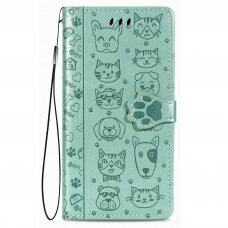 Dėklas Cat-Dog Xiaomi Redmi 9C žalias