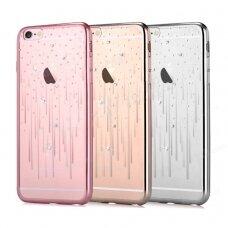 Dėklas Devia Meteor Crystal Apple iPhone X/XS sidabrinės spalvos