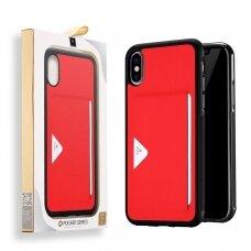 Dėklas Dux Ducis Pocard Apple iPhone XS Max raudonas UCS059