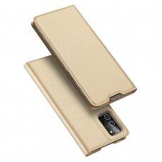Dėklas Dux Ducis Skin Pro Samsung Note 20 Aukso Spalvos